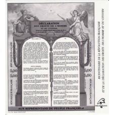 BLOC FEUILLET 11 - Déclaration des Droits de l'Homme