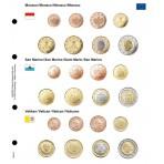 Feuille pré-imprimé pour les séries euro: Monaco/Saint-Marin/Vatican
