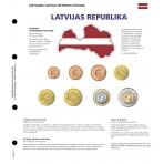 Feuille pré-imprimée série euro courante Lettonie