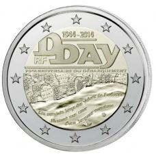 France 2014 - 2 euro commémorative anniversaire du débarquement de 1944