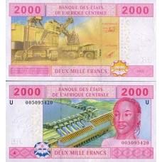 P.208 Afrique Centrale Cameroun -Billet de 2000 Francs