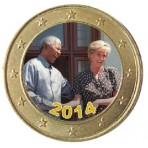 Nelson Mandela et La Princesse Diana - 1 euro domé couleur