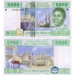 P.309 Afrique Centrale Centrafrique - Billet de 5000 Francs