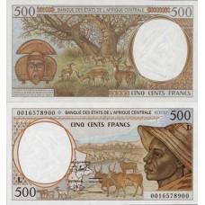 P.401 Afrique Centrale Gabon - Billet de 500 Francs