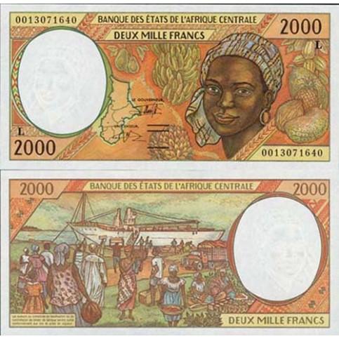 P.403 Afrique Centrale Gabon - Billet de 2000 Francs