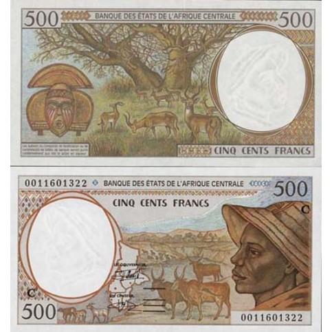 P.101 Afrique Centrale Congo République - Billet de 500 Francs