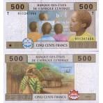 P.106 Afrique Centrale Congo République - Billet de 500 Francs