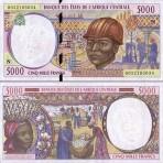 P.504 Afrique Centrale Guinée Equatoriale - Billet de 5000 Francs