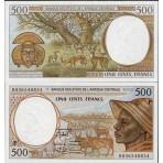 P.601 Afrique Centrale Tchad - Billet de 500 Francs