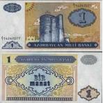 P.14 Azerbaidjan - Billet de 1 Manat