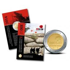 Belgique 2014 - Coincard 2 euro commémorative 1ère Guerre Mondiale