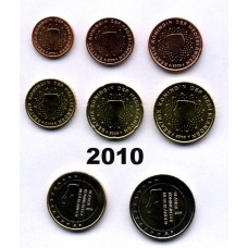 Pays-Bas 2010 : série de 1 cent à 2 euros