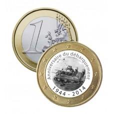 """Débarquement 1944 """"Char"""" - 1 euro domé"""