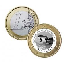 """Débarquement 1944 """"Soldats"""" 2014 - 1 euro domé"""