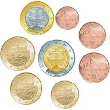 Slovaquie 2009 : série de 1 cent à 2 euros
