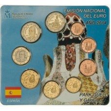 Espagne 2014 - Coffret euro BU GAUDI