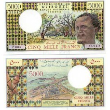 P.38 Djibouti - Billet de 5000 Francs