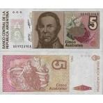 P.324 Argentine - Billet de 5 Australes