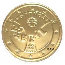 Portugal 2014 - 2 euro commémorative dorée à l'or fin 24 carats