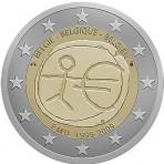 Belgique 2009 -  2 euro commémorative 10 ans de la zone euro