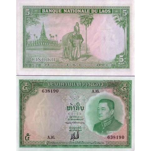 P.9 Laos - Billet de 5 Kip