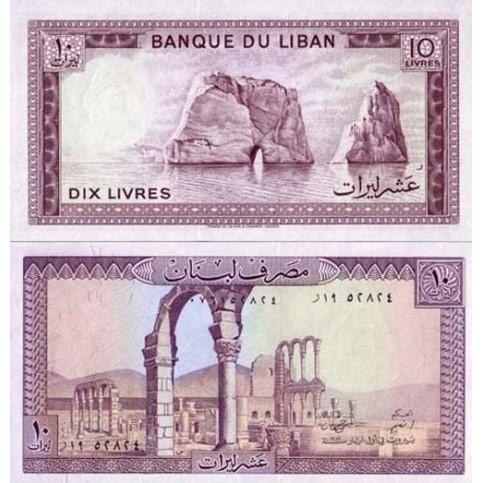 P.63 Liban - Billet de 10 Livres