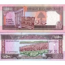 P.68 Liban - Billet de 500 Livres