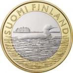 """Finlande 2014 - 5 euro """"Le Plongeon arctique"""""""