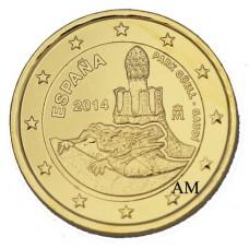 Espagne 2014 - 2 Euro commémorative dorée à l'or fin 24 carats