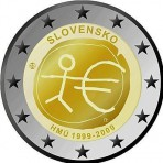 Slovaquie 2009 - 2 euro commémorative 10 de la zone euro