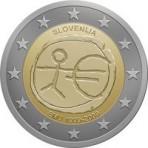 Slovénie 2009 - 2 euro commémorative 10 ans de la zone euro